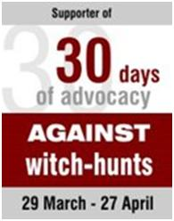 Supporter of 30 Days of Advocacy Against the Witch Hunts