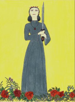 Lindmara Tarot: Queen of Swords (c) Linda Gravill, all rights reserved
