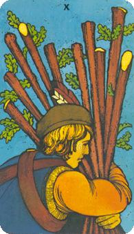 Morgan Greer Tarot:  10 of Wands