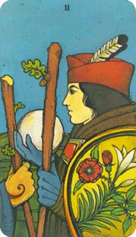 Morgan Greer Tarot:  2 of Wands