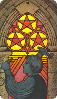 Morgan Greer Tarot:  3 of Coins