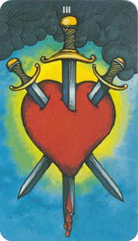 Morgan Greer Tarot:  3 of Swords