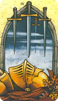 Morgan Greer Tarot: 4 of Swords