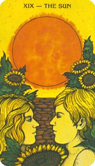 The Sun Key XIX, Morgan Greer Tarot