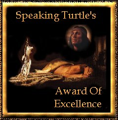 Speaking Turtle's Award of Excellence