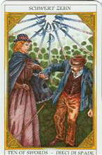 Tarot of Sissi:  10 of Swords
