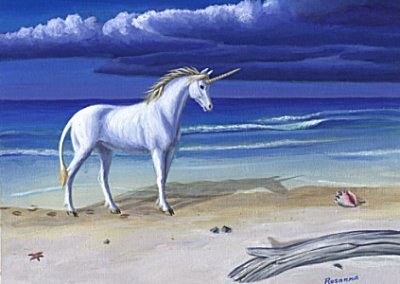 Beach Unicorn courtesy of Rosanna's Art Page
