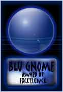 Blu Gnome Award of Excellence