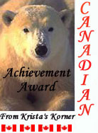 Canadian Achievement Award from Krista's Korners