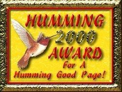 Orchid's Hummingbird Award