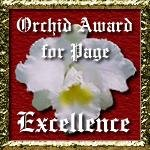 Orchid's Award for Web Excellence