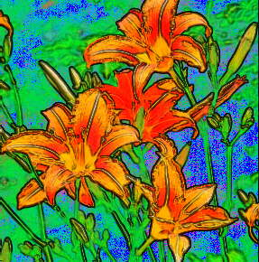 Watercolour Lilies by Cheryl Lynne Bradley
